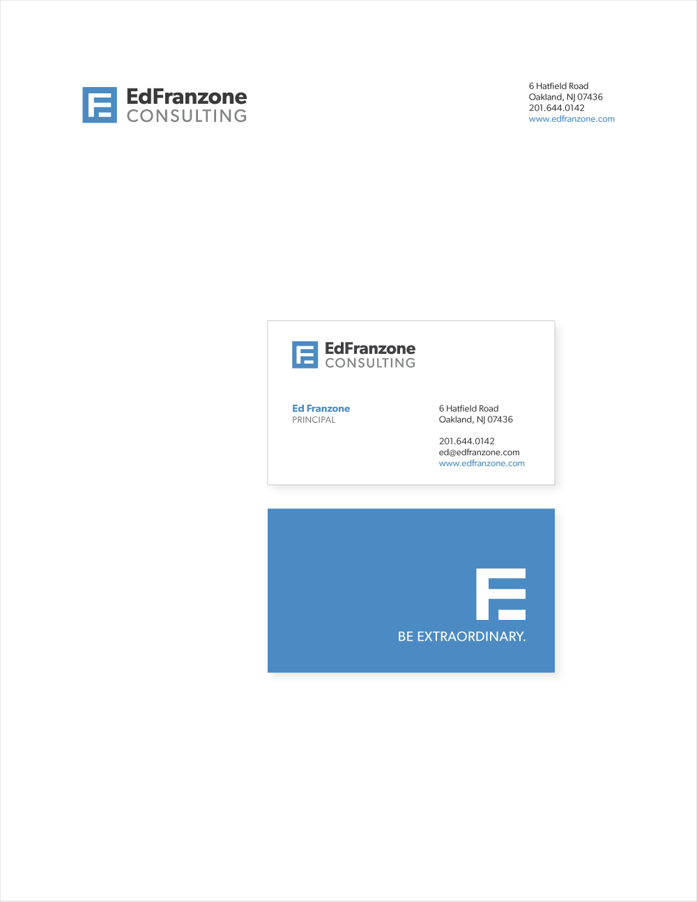 letterhead business cards
