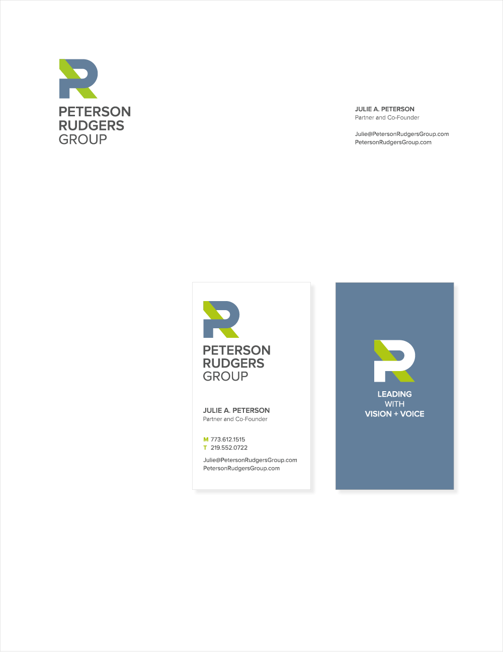 letterhead business card